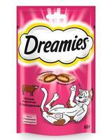 """Набор лакомств для взрослых кошек Dreamies Mix """"Лакомые подушечки"""", с говядиной, 6 штук по 60 грамм (количество товаров в комплекте: 6)"""