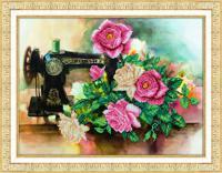 """Набор для вышивания бисером """"Розы для рукодельницы"""", 38х28 см, арт. Б-1286"""