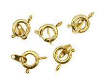 """Замки для бус """"Кольцо"""", с ответной частью, цвет: яркое золото, 9 мм, 5 штук, арт. 4AR2041 (количество товаров в комплекте: 5)"""