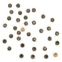 Хрустальные стразы в цапах, 6 мм, 40 штук, цвет золотой, серый (арт. 4AR169/176)