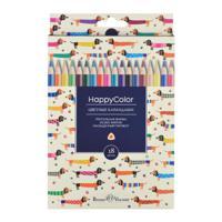 """Карандаши цветные """"HappyColor"""", 18 цветов"""