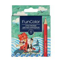 """Карандаши цветные """"FunColor"""", 12 цветов"""