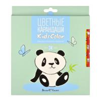 "Карандаши цветные ""KidsColor. Панда"", 24 цвета"