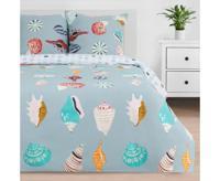 """Комплект постельного белья Этель """"Sea shell"""", семейный, поплин (цвет: голубой)"""