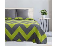 """Комплект постельного белья Этель """"Зелёный шеврон"""", 2-спальный, поплин (цвет: зелёный, серый)"""