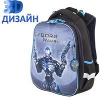 """Ранец """"Brauberg Premium. Cyborg"""", 2 отделения, с брелоком, 3D панель, 38х29х16 см"""