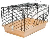 """Клетка для кроликов и морских свинок Дарэлл """"Кролик №2"""", складная (цвет: бежево-черный), 58х40х36 см"""