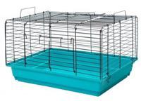 """Клетка для кроликов и морских свинок Дарэлл """"Кролик №2"""", складная (цвет: бирюзово-черный), 58х40х36 см"""