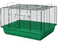 """Клетка для кроликов и морских свинок Дарэлл """"Кролик №2"""", складная (цвет: изумрудно-черный), 58х40х36 см"""