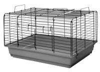 """Клетка для кроликов и морских свинок Дарэлл """"Кролик №2"""", складная (цвет: серо-черный), 58х40х36 см"""