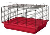 """Клетка для кроликов и морских свинок Дарэлл """"Кролик №2"""", складная (цвет: рубиново-черный), 58х40х36 см"""