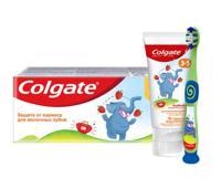 """Детская зубная паста Colgate """"Клубника"""", 3-5 лет, 60 мл + зубная щётка Colgate """"Детская"""", 2-5 лет"""