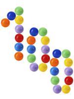 """Шарики пластиковые цветные """"Радужный"""", диаметр 60 мм, 100 штук"""