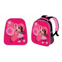 """Рюкзак школьный """"Девочка и фламинго"""", каркасный, 37x31,5x17 см"""