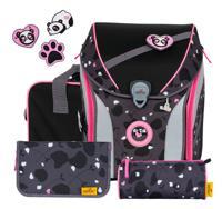 """Ранец """"Ergoflex Max Buttons. Розовая панда"""", с наполнением"""