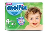 """Подгузники детские 3D Мaxi №4 """"Molfix"""", 7-14 кг, 40 штук"""