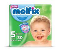 """Подгузники детские 3D Junior №5 """"Molfix"""", 11-18 кг, 30 штук"""