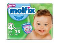 """Подгузники детские 3D Мaxi Plus №4 """"Molfix"""", 9-16 кг, 36 штук"""