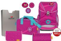 """Ранец """"Ergoflex Buttons. Розовый стиль"""", с наполнением"""