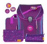 """Ранец """"Ergoflex Max Buttons. Фиолетовая сказка"""", с наполнением"""