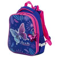 "Ранец ""Brauberg Premium. Beautiful butterfly"", 2 отделения, с брелком, 38х29х16 см"