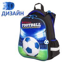"""Ранец """"Brauberg Premium. Football champion"""", 3D панель, 2 отделения, с брелком, 38х29х16 см"""