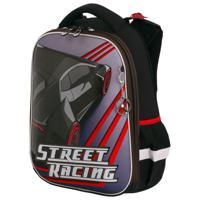 """Ранец """"Brauberg Premium. Street racing"""", 2 отделения, с брелком, 38х29х16 см"""