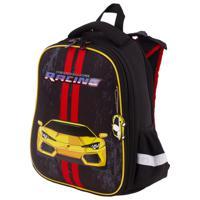 "Ранец ""Brauberg Premium. Yellow car"", 2 отделения, с брелком, 38х29х16 см"