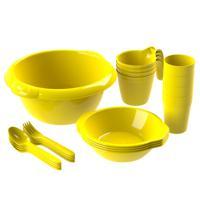 """Набор посуды для пикника """"Праздничный №1"""" (4 персоны, 21 предмет)"""