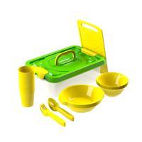 """Набор посуды для пикника """"В дорогу №3"""" (4 персоны, 22 предмета)"""