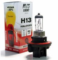 Галогенная лампа AVS Vegas H13, 12V, 60/55W, 1 штука