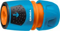 """Соединитель универсальный """"Grinda. PRO Line. TU-A"""", 1/2""""-3/4"""", с автостопом быстросъёмный, для шланга, из ударопрочного пластика с TPR"""