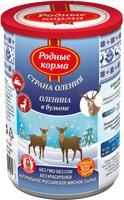 """Консервы для собак Родные корма """"Страна Оления"""" (оленина в бульоне), 400 г"""