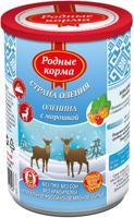 """Консервы для собак Родные корма """"Страна Оления"""" (оленина с морошкой), 400 г"""