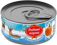 """Консервы для собак Родные корма """"Страна Оления"""" (оленина с тыквой), 100 г"""