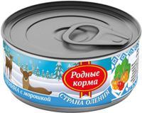 """Консервы для собак Родные корма """"Страна Оления"""" (оленина с морошкой), 100 г"""