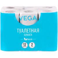 """Бумага туалетная """"Vega"""", 2 слоя, 15 м, 12 штук"""