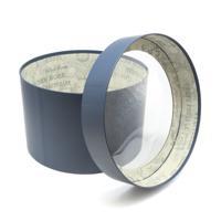 Коробка с прозрачной крышкой, 22,5x15 см, цвет темно-синий