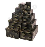 """Набор прямоугольных коробок 10 в 1 """"Зимний лес"""""""