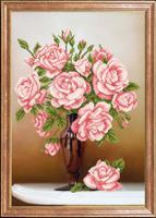 """Рисунок на ткани для вышивания бисером Магия канвы """"Свежие розы"""", 39х27 см, арт. КС064"""
