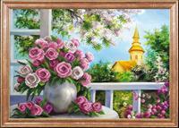 """Рисунок на ткани для вышивания бисером Магия канвы """"Розы на веранде"""", 39х27 см, арт. КС071"""