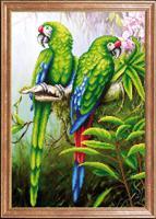 """Рисунок на ткани для вышивания бисером Магия канвы """"Пара попугаев"""", 39х27 см, арт. КС094"""
