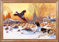 """Рисунок на ткани для вышивания бисером Магия канвы """"Собака на охоте"""", 39х27 см, арт. КС104"""