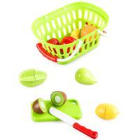 """Набор продуктов на липучках Jiacheng """"Овощи и фрукты"""", в корзине, 10 предметов"""