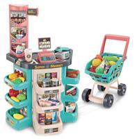 """Игровой набор Jiacheng """"Супермаркет с тележкой и продуктами"""", 79х53х34 см, сборный, 47 предметов, со световыми и звуковыми эффектами"""