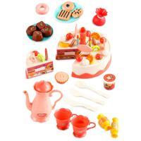 """Набор посуды с продуктами Babe Valley """"Торт ко дню рождения"""", 62 предмета, со световыми эффектами"""