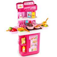 """Игровой набор BOWA """"Передвижная кухня"""", 61,5х49 см, 41 деталь, сборный, со световыми и звуковыми эффектами, цвет: розовый"""