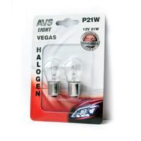 Лампа AVS Vegas, 12V, P21W (BA15S), 2 штуки