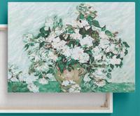 "Картина по номерам на подрамнике Color KIT ""Белые розы"" (Ван Гог), 40х50 см"