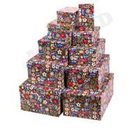 """Набор прямоугольных коробок 10 в 1 """"Новогодняя почта"""""""